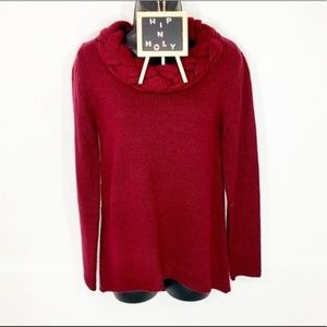 ANNALEE & HOPE BAIDED NECK SWEATER BURGUNDY SMALL